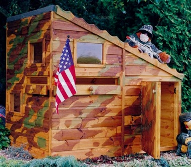 Shire Command Post Playhouse - Army Bunker